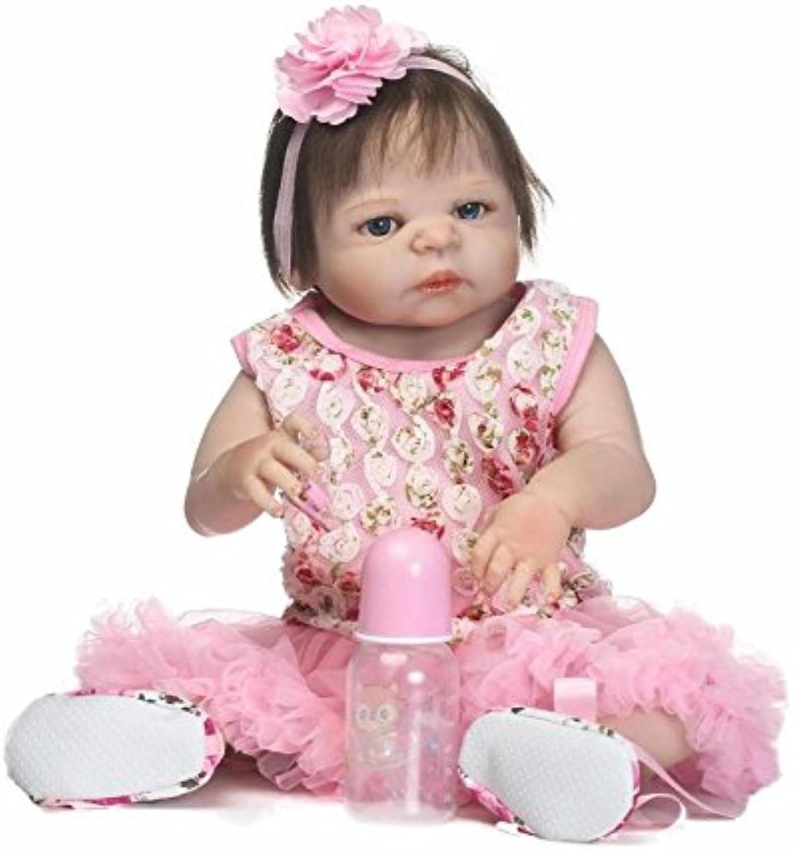 ZBYY Reborn Dolls Silikon Vinyl 22 Inch 56cm Lebensechte Puppen Babys Handgemachtes Mdchen Realistische Puppe
