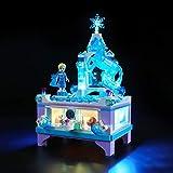 BRIKSMAX Kit di Illuminazione a LED per Lego Il Portagioielli di Elsa,Compatibile con Il Modello Lego 41168 Mattoncini da Costruzioni - Non Include Il Set Lego.