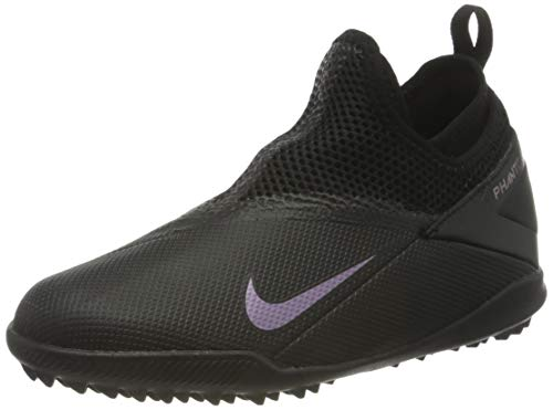 Nike Unisex-Kinder Phantom VSN 2 Academy DF TF Fußballschuhe, Schwarz (Black/Black 010), 32 EU
