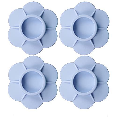 HFZY Alfombrilla antideslizante para lavadora para frigorífico, con patas de goma resistentes al desgaste, a prueba de golpes, accesorios fijos, color azul