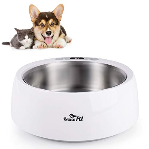 Beacon Pet Heated Pet Bowl 1.5L Winter Pet Dog Bowl Food Cats Heated Feed Cage Constant Temperature Bowl Heated Automatic Water Bowl Heatly Food Container Stainless Steel Water Feeder