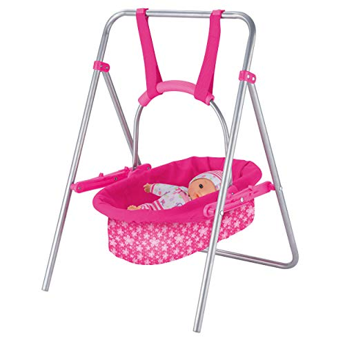 Crystals Doll's Rocking Cot Swing & Travel Cot Fun Role Play Toy for Kid's Dolls