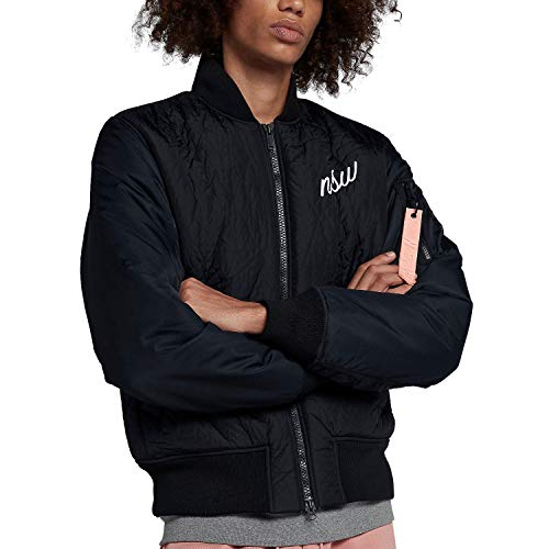 Nike Sportswear NSW Synthetic Fill Men's Bomber Jacket (Black/Storm Pink/White, Large)