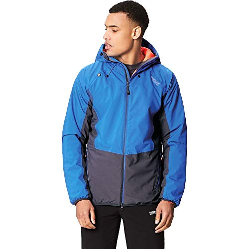 Regatta Whitlow Stretch Waterproof and Breathable Wind Resistant Insulated Veste Homme, Oxford Blue/Seal Grey, Grand