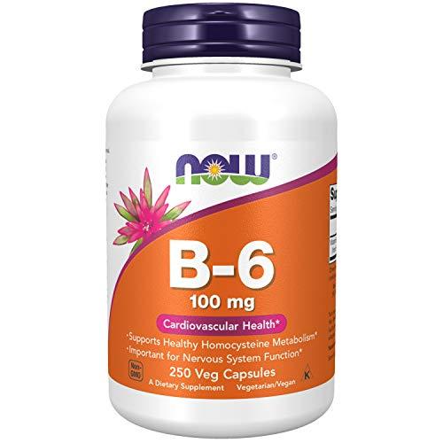 NOW 100mg Vitamina B6 250 Veg Cápsulas 250 g