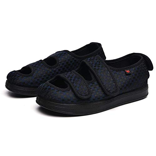 XRDSHY Zapatos para Diabéticos Unisex, Zapatillas Ligeras Y Transpirables para Caminar, Sandalias Ajustables para Ancianos con Edema para Pies Hinchados, Fascitis Plantar,Navy-EU35/225mm