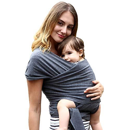 Frabe Family écharpe de portage, pour nouveau-né, porte-bébé et enfant, anthracite, jusqu'à 16 kg