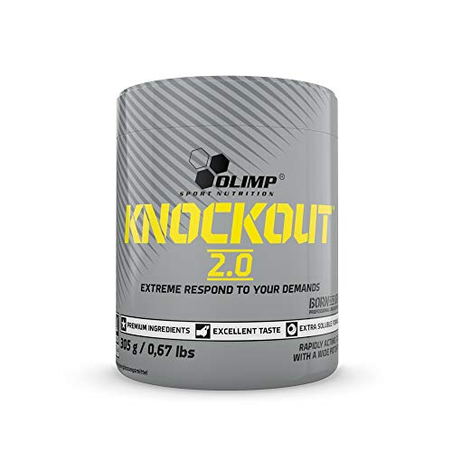 Olimp Knockout 2.0, Bubble Gum, 305 g, Pre Workout Formula, Hohe Portion L-Citrullin und Beta Alanin