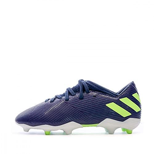 adidas Unisex Baby Nemeziz Messi 19.3 Fg J Kinder Fußballschuhe, Lila Tech Indigo Signal Green Glory Purple, 35 EU