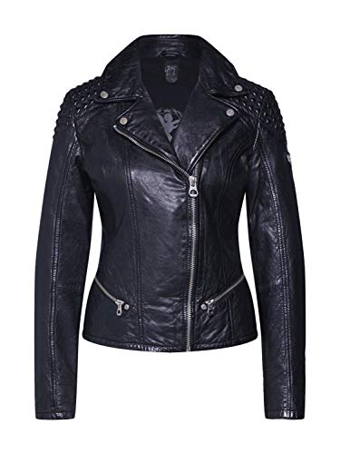 Gipsy Damen Lederjacke GGKinah LATEV aus Lammnappa Leder (XL, Black)