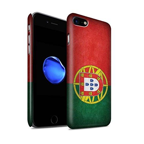 Preisvergleich Produktbild Stuff4 Matte Snap-On Hülle / Case für Apple iPhone 7 / Portugal / Portugiesische Muster / Flagge Kollektion