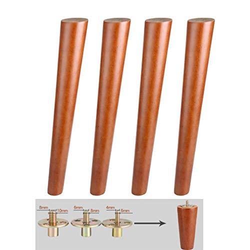 DX Meubelpoten Tafelpoten Sofa Bench Legs Vervangende Benen, Bouten met Voorgeboorde M6 M8 M10 voor Slaapbank, Kast en Sofa Kruk (M850cm/19.68in)