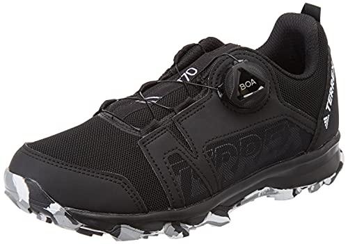 adidas Unisex-Kinder Terrex Agravic Boa K Leichtathletik-Schuh, Kern Schwarz/FTWR Weiss/Grau DREI F17, 33 EU