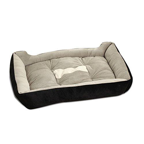 PETCUTE Camas para Perros medianos Cama de Perro Reforzada Cama Perro Grandes Lavable Colchón Cama para Gatos Cojín Negro