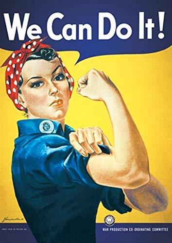 We Can Do It Metall Blechschild Retro Metall gemalt Kunst Poster Dekoration Plaque Warnung Bar Cafe Garage Party Game Room Hauptdekoration