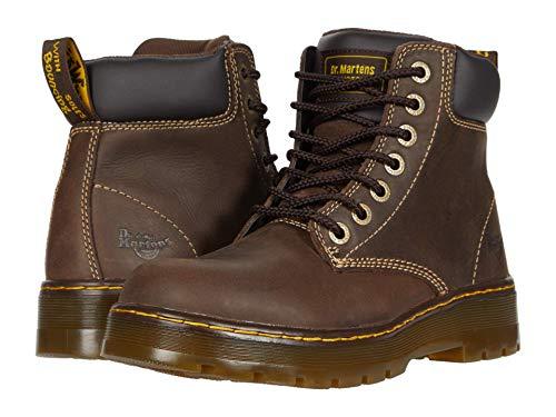 Dr. Martens Men's Winch 7 Eye Boot,Dark Brown Wyoming Leather,UK 7 M