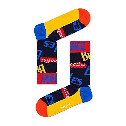 Happy Socks El Logotipo De Los Beatles Calcetines Para Hombre, Azul/Multi Mediano/grande