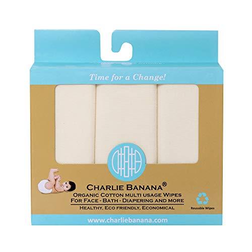 Charlie Banana Organic Cotton Wipes, 10-Piece