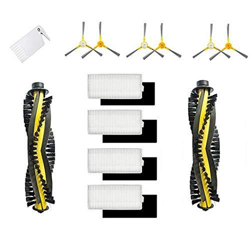 Moligh doll Seitliche Seiten BüRsten für Ersatz Walzen BüRsten Filter für Neatsvor X500 Tesvor X500 X500 Pro Roboter Vakuum Staubsauger Teile