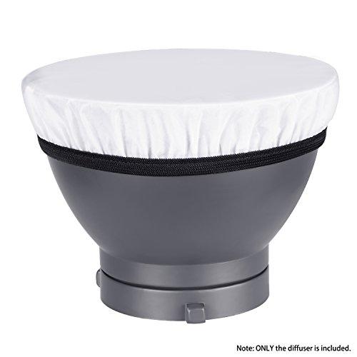 Neewer18cmソフト白色ディフューザーソックス光出力を柔らかくするスタジオストロボリフレクター、肖像と製品写真撮影、ビデオ撮影に最適