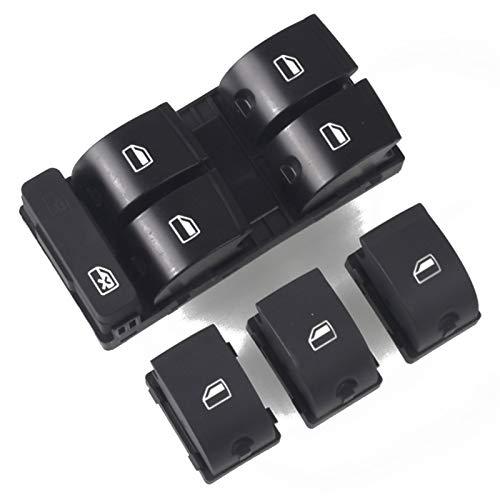 Qivor Interruttore Finestra Pannello Windows Fit Toggle Switch per Audi A4 B6 B7 Interruttori Finestra Interruttori elettrici Master Electric 8D 959 851 8E0 959 851 (Color : White)
