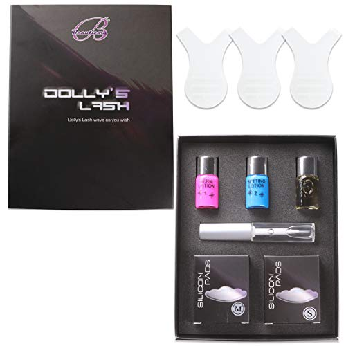 Beauticom Dolly's Lash Lift Eyelash Wave Lotion Premium Quality Perm Kit - #1 Choice for Professional Curling, Perming, Lifting etc. (Small and Medium Pads)