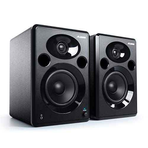 Alesis Elevate 5 MKII | Powered Desktop Studio Speakers for Home Studios/Video-Editing/Gaming and Mobile Devices