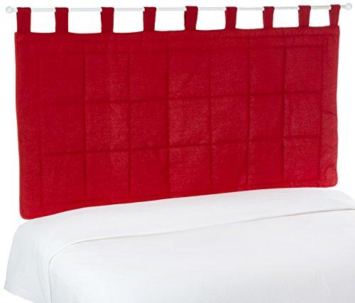 Linder 0509/69/807/160 Monaco - testiera per Letto, Modello Monaco, in Poliestere e Cotone, Imbottito, 85 x 160 cm, Colore: Rosso