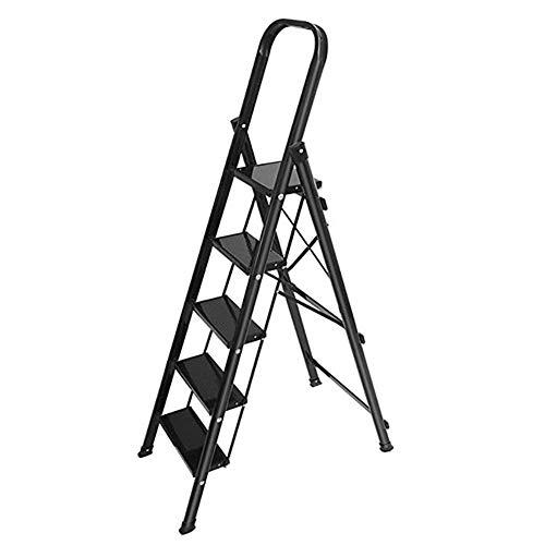 ZXMDP Heavy Duty 4/5/6 stappen van aluminium, inklapbare ladder voor slee zonder loopvlak, ideaal voor thuis, keuken, garage, 150 kg, maximale capaciteit