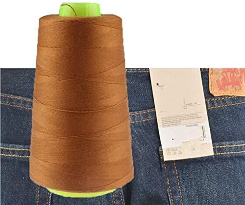 CHENGYIDA 1 bobina di filo da cucire per macchina da cucire jeans 3000 metri industriale poliestere Jeans filo da cucire 20S/3 - (Jiang Huang)