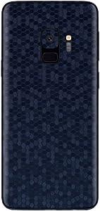 Dark Blue Honeycomb Sticker For Samsung Galaxy S9
