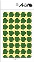 エーワン カラーラベル 緑 丸型 15mm 14シート 07023 【× 4 パック 】