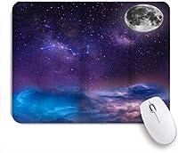 PATINISAマウスパッド 月の軌道の夜空の下の星天の銀河コスモス ゲーミング オフィス最適 高級感 おしゃれ 防水 耐久性が良い 滑り止めゴム底 ゲーミングなど適用 マウス 用ノートブックコンピュータマウスマット