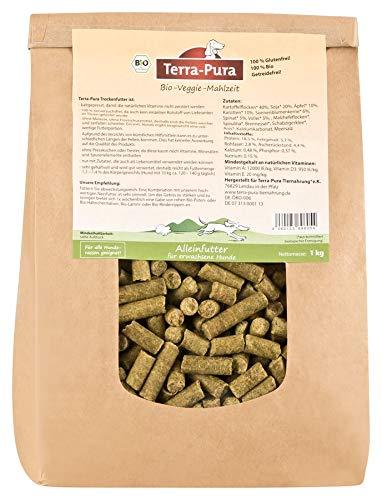 TERRA-PURA Tiernahrung Bio-Veggi-Mahlzeit, kaltgepresstes VEGETARISCHES Trockenfutter für Hunde, 1 kg