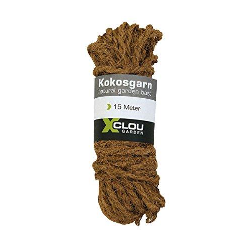 Xclou Kokosgarn, Seil aus Natur-Kokosfasern in braun, Umweltfreundliches und Nachhaltiges Bindegarn, robustes Kokos-Seil, Ø ca. 8 mm x L ca. 15 m