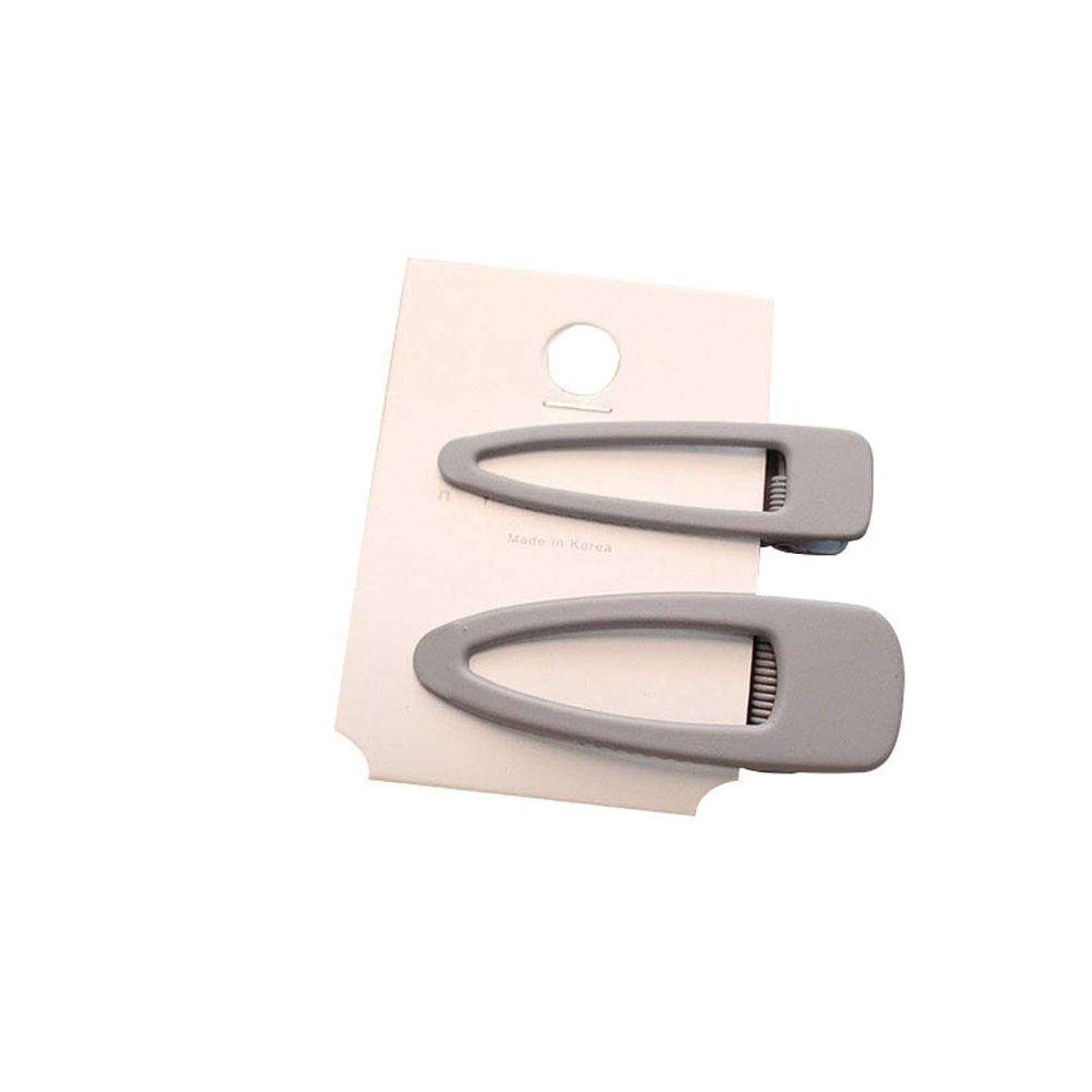 に対処するピグマリオン仕立て屋goupgolboll-2Pcs Kids Girl Pure Color Hair Clip Bangs Hairpin Metal Barrette Headwear Gift - Light Grey
