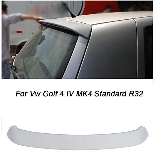 LIBAITIAN Alerón Trasero Spoiler para Coche para Volkswa-Gen V-W Golf 4 IV MK4 estándar R32 1998-2004 PU sin Pintar Ventana Gris alerón de Labios