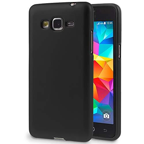 MyCase Ultra-Slim Housse Noir pour Samsung Galaxy Grand Prime   TPU Coque Couleur Unie