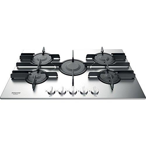 Hotpoint Ariston - Table de cuisson à gaz ftghl 751 d/ix/A Finition inoxydable et grilles en fonte de 75 cm
