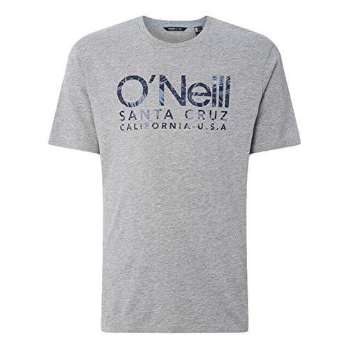 O'NEILL LM Logo Camiseta Manga Corta, Hombre, Gris (Silver Melee), S