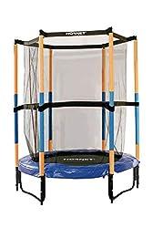 Hudora Hornet lasten trampoliini Jump In - trampoliini turvaverkolla - 140 cm, sininen