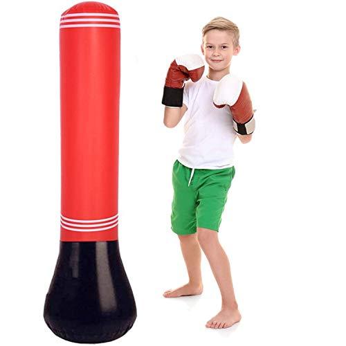 SFJRY Saco de Boxeo Hinchable de Niños para un Rebote inmediato Practicar Karate, Entrenamiento de Fitness, Ejercicio y Alivio del Estrés, Adolescentes y Adultos