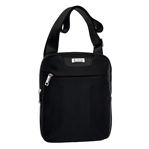 Beverly Hills Polo Club 5095851 Bolso Bandolera, 1.78 litros, Color Negro