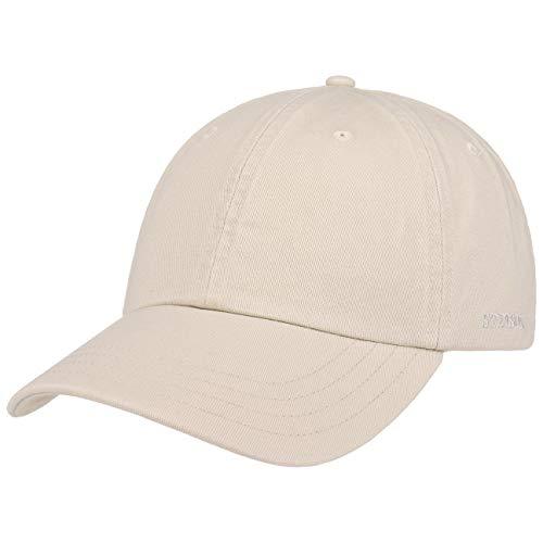 Stetson Rector Basecap - Cap für Damen/Herren - Sonnenschutz-Cap aus Baumwolle (UV-Schutz 40+) - Baumwollcap größenverstellbar (55-60 cm) - Baseballcap Sommer/Winter Hellbeige One Size