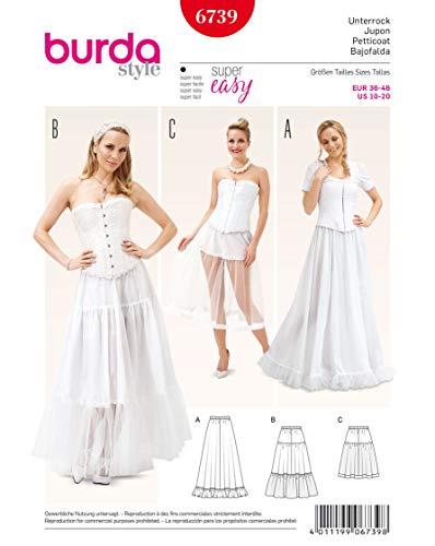 Burda Schnittmuster 6739Boss Petticoat in weiß