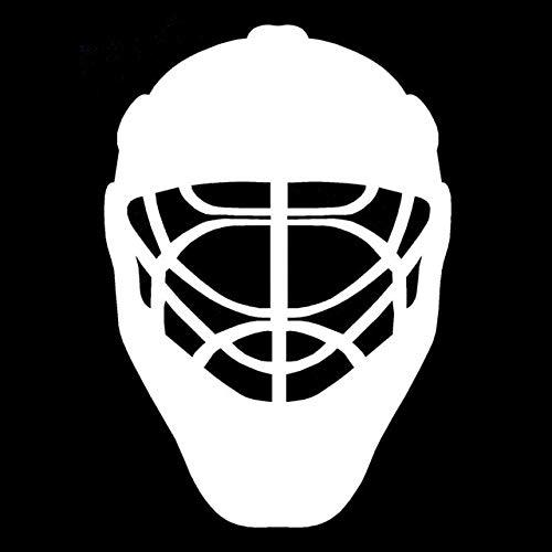 BDDLLM Autoaufkleber 15,8 cm * 22,8 cm Autozubehör Sport Eishockey Helm Karosserie Auto Aufkleber schwarz Silber S2-0458Silber