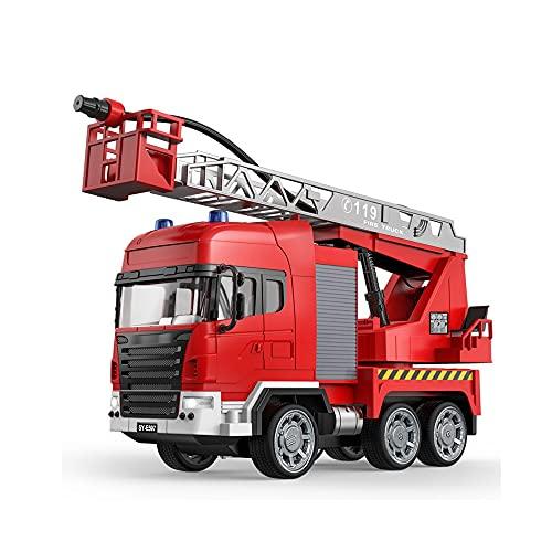 Control remoto Pulverización de agua Escalera Camión de bomberos, control remoto Coche Lucha contra incendios Camión Control remoto Control remoto Motor de fuego Juguete de coche con escaleras One-But
