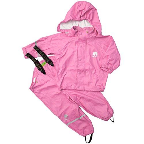 CeLaVi Baby - Mädchen CeLaVi zweiteiliger Regenanzug in vielen Farben Regenjacke,,per pack Rosa (Cyclamen 538),(Herstellergröße:70)