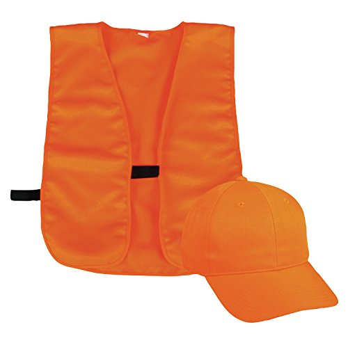 Outdoor Cap BLZCPV Vest and Cap Combo Adult Blaze, Blaze Orange