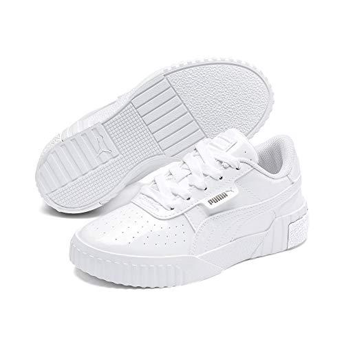 PUMA Cali Patent Kids Sneaker Puma White-Puma White UK 1.5_Youth_FR 34